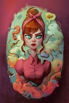 Digital Paintings by Maria Tiurina