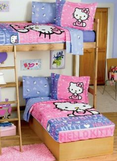 Bedroom In A Box Twin Bed Furniture Set   Hello Kitty | Hello Kitty Bedroom  | Pinterest | Twin Bed Furniture, Bed Furniture And Twin Beds