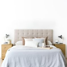 Buy Twin XL Bedding In A Bag of high-quality cotton. This twin xl bed in a bag set is available in various sizes & colors. Rattan Headboard, Velvet Headboard, Headboards, Wide Chest Of Drawers, Twin Xl Bedding, Linen Bedding, Relaxing Colors, Bed In A Bag, Modern Floor Lamps