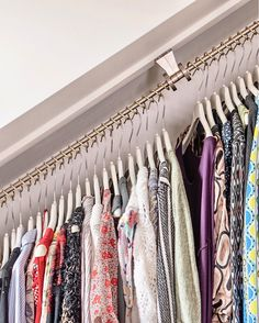 Wardrobe rails for sloping ceilings - high capacity as items can be doubled up! Attic Bedroom Storage, Attic Rooms, Closet Bedroom, Room Decor Bedroom, Attic Bedroom Designs, Design Bedroom, Diy Bedroom, Wardrobe Rail, Attic Wardrobe