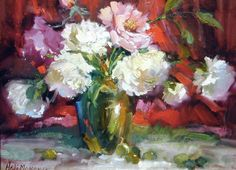 Fine Art-Hedi Moran MoranNew-Pink_White_and_red_all_over-9x12