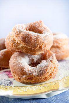 Rosquillas fritas, como las de tu abuela Spanish Desserts, Sweet Dough, Flan, Homemade Cakes, Sweet Desserts, No Cook Meals, Doughnut, Mexican Food Recipes, Donuts