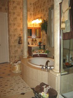 Marblized The Columns In My Bathroom Hard But Worth Work