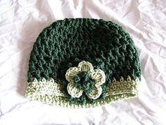 St. Paddy's Crochet Cloche Free Pattern. Lion Brand Yarn