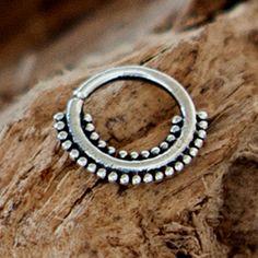 Plata de Anish tabique anillo anillo de tabique por RONIBIZA