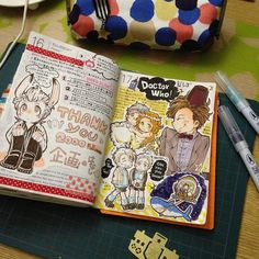 Instagram photo by @asahinosuke (asahinosuke) | Iconosquare Blank Journal, Journal Layout, My Journal, Journal Notebook, Types Of Journals, Cool Journals, Art Journal Inspiration, Journal Ideas, Drawing Journal
