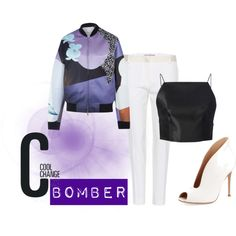 """BOMBER JACKET"" by rea-jain on Polyvore"