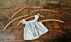 Vintage Wooden Hangers - Set of 6 by KnickofTime Childrens Hangers, The Knick, Wooden Hangers, Handmade Ideas, Laundry Rooms, Vintage Love, Clothes Hanger, Farmhouse, Diy Projects