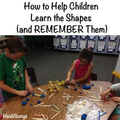 This post gives three skills children need in order to learn shapes, plus lots of tips on how to help children develop the skills they are missing so that they can master the shapes. Phonics Activities, Teaching Math, Preschool Activities, Kindergarten Shapes, Kindergarten Lessons, First Grade Math, Grade 1, Basic Shapes, 3d Shapes