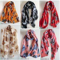 New Lady Fashion Womens girls beautiful Big skull scarf wrap shawl Stole Scarves