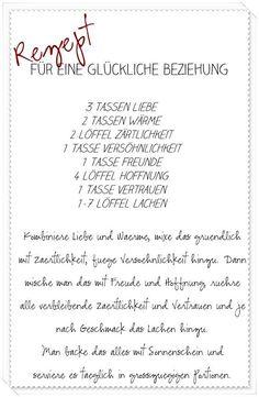 Rezept Für Eine Glückliche Ehe Bemerkt Pinterest Wedding