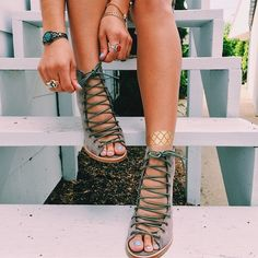 summer outfits with gladiator sandals best outfits - Page 57 of 100 - What to Wear Ideas Cute Shoes, Me Too Shoes, Shoe Boots, Ankle Boots, Mode Top, Crazy Shoes, Gladiator Sandals, Gladiators, Strappy Heels