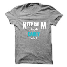 (Tshirt Awesome T-Shirt) Keep Calm and Let CARLY Handle It Top Shirt design Hoodies Tees Shirts