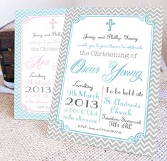 Personalised Christening Or Baptism Invitations Baptism Invitations, Personalized Invitations, Invitation Wording, Invitation Templates, Invites, Wedding Invitations, Communion, Faire Part Invitation, Baby Boy Christening