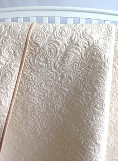 King Quilt Whole Cloth in Ivory Custom Quilt by KimsQuiltingStudio