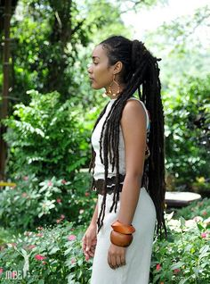 Dreads: I love her locks. Dreads Styles, Curly Hair Styles, Natural Hair Styles, Dreadlock Styles, Nattes Twist Outs, Rapunzel, Pelo Natural, Natural Dreads, Au Natural