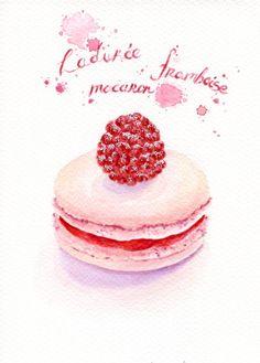 Raspberry Macaron Sweet, by ForestSpiritArt