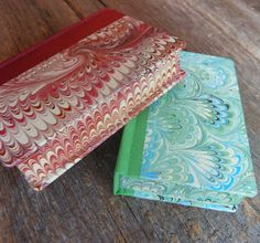 marbled fore-edges - My Handbound Books - Bookbinding Blog