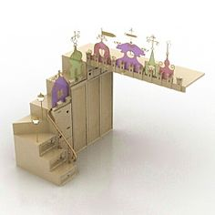 3D Toys & Children's Room | Rack for childroom N280811 - 3D model (*.3ds) for interior 3d visualization.