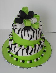 Green zebra Cake
