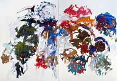 Sunflowers, 1990–1991 by Joan Mitchell Oil on canvas, diptych 280 x 400.1 cm / 110 ¼ x 157 ½ in