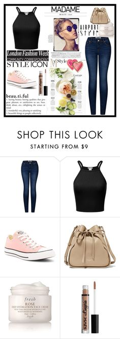 """""""love"""" by polaris-1 ❤ liked on Polyvore featuring beauty, 2LUV, Converse, Nina Ricci, Martha Stewart, Fresh, NYX and Too Faced Cosmetics"""
