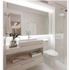 BANHEIRO CLEAN!!Visite WWW.#construindominhacasaclean.COM #blog @construindominhacasaclean @construindominhacasaclean #banheiro #bathroom #decor #decoracao #design #interior #interiordesign #casa #casaclean #home #inspiracao #inspiration