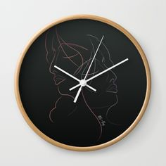 Authîel Rainbow Minimalist Wall Clock by weivy Minimalist Wall Clocks, Minimalist Decor, Face Towel, Presents For Friends, Rainbow Wall, Good Cause, Hand Towels, Line Art, Ivy