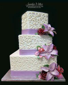 lavender weddings in october | Lavender Lilies Wedding Cake by ~ArteDiAmore on deviantART