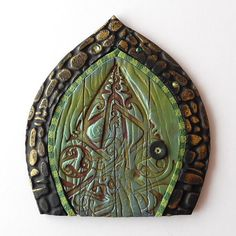 Celtic Fairy Door Pixie Portal by Claybykim on Etsy