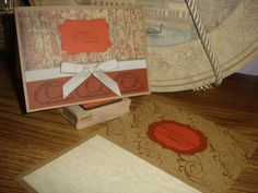 Two Western themed cards given as gifts. Cards in rusts, browns, oranges and creams.