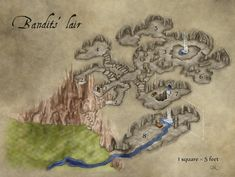Bandit Lair Fantasy Map by Jonathan Roberts at FantasticMaps.com [MZLoweRPP verified link on 6/30/2016]