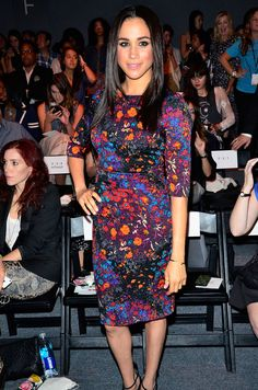 NEW YORK, NY - SEPTEMBER 08: Actress Meghan Markle attends the Tracy Reese show during Spring 2014 Mercedes-Benz Fashion Week at The Studio at Lincoln Center on September 8, 2013 in New York City. (Photo by Brian Killian/WireImage) via @AOL_Lifestyle Read more: https://www.aol.com/article/lifestyle/2017/05/17/prince-harry-meghan-markle-westminster-abbey-wedding/22095530/?a_dgi=aolshare_pinterest#fullscreen