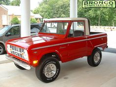 Cherry 1968 Ford Bronco Factory Half-Cab