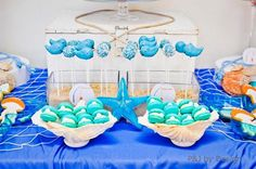 Under the Sea birthday party: Sweet treats display idea