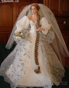 pl - Cindy McClure - o tym się pisze! Dress Barbie, Barbie E Ken, Barbie Wedding Dress, Wedding Doll, Barbie Clothes, Wedding Gowns, Barbie Bridal, Bridal Gowns, Rapunzel Barbie