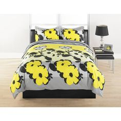 Upgrade your bed with this fun silver and yellow floral designed duvet cover. Coordinating shams round off the look. This set is crafted of cotton percale. Yellow Bedding Sets, Nursery Bedding Sets Girl, Toddler Girl Bedding Sets, Bedding And Curtain Sets, Duvet Bedding Sets, Luxury Bedding Sets, Best Duvet Covers, Duvet Cover Sets, Restoration Hardware Bedding