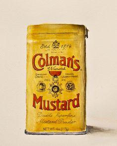 watercolour Colmans mustard