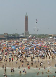 Jones Beach, Long Island, NY I spent my summer weekends with my father here. It seemed to be miles from the boardwalk to the water and my ice cream would be melting down my hand by the time we would reach our spot. cs
