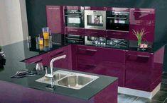 Modern Decor Home Decoration: the best kitchen ideas Purple Kitchen, Kitchen Colors, Kitchen Sink Storage, Kitchen Cabinets, Modern Kitchen Design, Interior Design Kitchen, Kitchen Designs, Interior Ideas, Black Kitchens