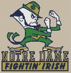 Notre Dame Fighting Irish Counted Cross Stitch by BlackCatStudios
