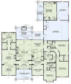 4 BR 3 bath, 3580 sq feet nice LO. For our family,  I'd make a few adjustments. Make the media room(office) separate from the master bedroom. Change the dining to a music room, make breakfast area bigger. house plan 110-00904 from houseplans.net