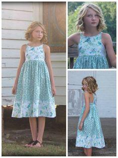 Hourglass Dress girls' summer dress PDF by RabbitRabbitCreation Little Girl Dress Patterns, Summer Dress Patterns, Little Girl Dresses, Girls Dresses, Baby Dresses, Dress Girl, Moda Kids, Sewing Kids Clothes, Children Clothes