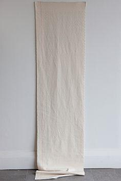 Amanda Rataj 'Foolscap' - handwoven 'paper', cotton, 2014