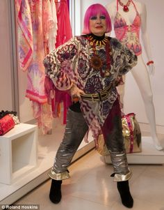 Marks & Spencer Launch. Zandra Rhodes launches her new line of clothes into M&S