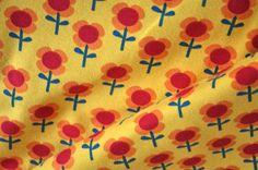 Organic Jersey fabric  Lillestoff  Flowers yellow  by stoffandgo, €9.90
