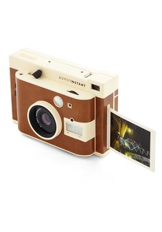 Lomo'Instant Sanremo Camera. Shoot breathtaking photos and share them on the spot with this Lomography instant camera. #brown #modcloth