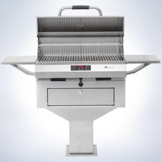 """32"""" pedestal outdoor grill is a favorite for luxury complexes whose residents expect a common grilling area. They require very little maintenance and can withstand years of constant use and harsh outdoor elements."""