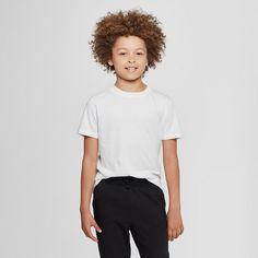 oversizeBoys' Short Sleeve T-Shirt - Cat and Jack White XXL Husky, Boy's Gender: male. Uniform Shirts, Cute Kids Fashion, Jack White, Basic Tees, Quality T Shirts, Red Shirt, Boy Shorts, White Tees, Cool Shirts