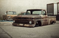 STREET MACHINERY'S 1966 CHEVY C10 PICKUP#Rvinyl: Pinning the #BestofStance #SlammedWhips!